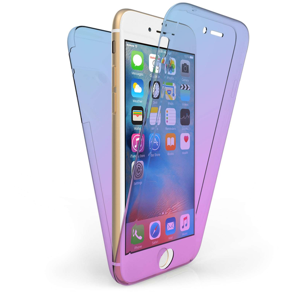 Compare prices with Phone Retailers Comaprison to buy a Apple iPhone 7 Full Body 360 TPU Gel Case - Blue / Purple