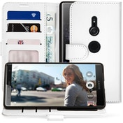 Sony Xperia XZ2 PU Leather ID Stand Wallet - White