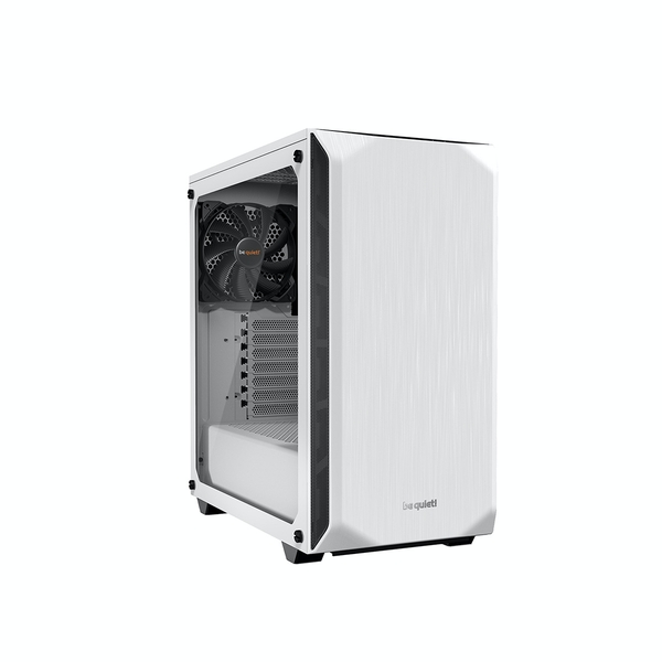 be quiet! Pure Base 500 Midi Tower Case - White Tempered Glass