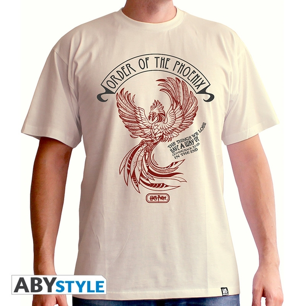 Harry Potter - Order Of The Phoenix Men'S Small T-Shirt - Sand