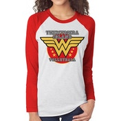 Wonder Woman - Volleyball Women's Large Long Sleeved T-Shirt - White