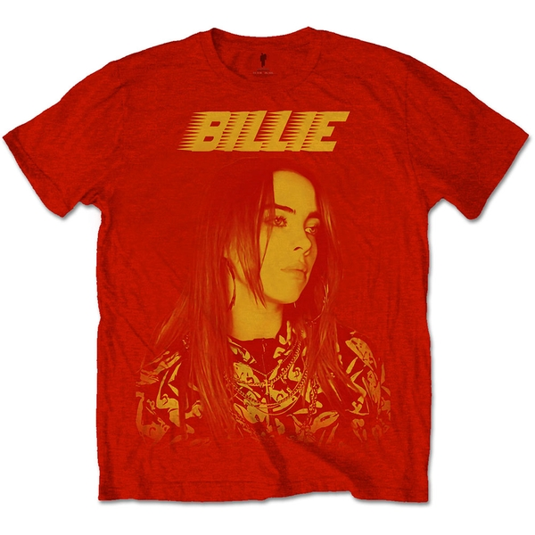 Billie Eilish - Racer Logo Jumbo Unisex X-Large T-Shirt - Red