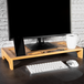 Bamboo Monitor Stand   M&W 1 Tier - Image 2
