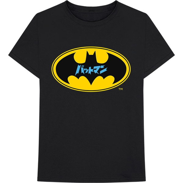 DC Comics - Batman Japanese Logo Unisex X-Large T-Shirt - Black
