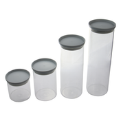 Glass Food Airtight Storage With Plastic Lids - Set of 4 | M&W