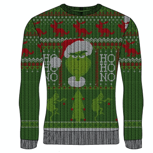 Grinch - Ho Ho No Unisex X-Large Knitted Jumper - Multi-Colour