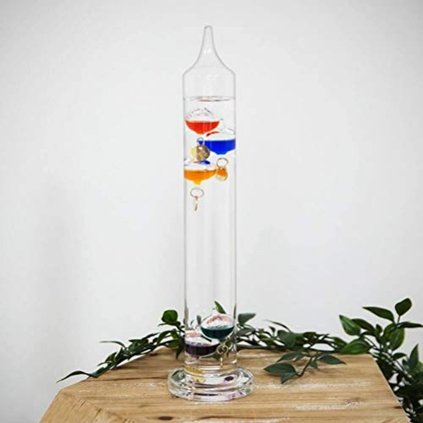 Galileo Thermometer - 33cm Multi Coloured 5 Bulb