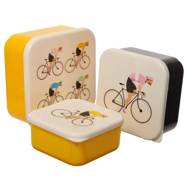 Set of 3 Lunch Boxes M/L/XL - Cycle Works Bicycle