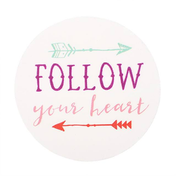 Follow Your Heart Magnet Pack Of 6
