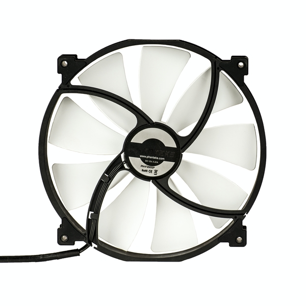 Phanteks PH F200SP 200mm Fan - Black / White