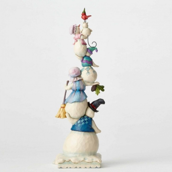 A Family of Flakes (Stacked snowman family) Heartwood Creek by Jim Shore - Image 2