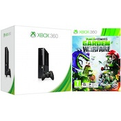 Slim 250GB HDD Black Xbox 360 Console with Plants Vs Zombies Garden Warfare