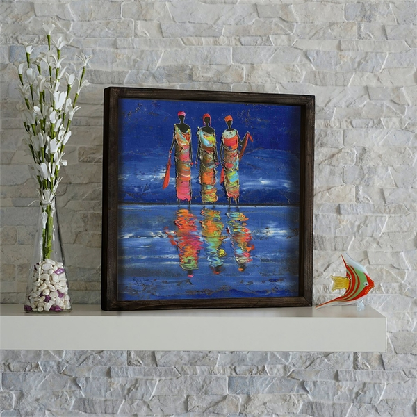 KZM427 Multicolor Decorative Framed MDF Painting