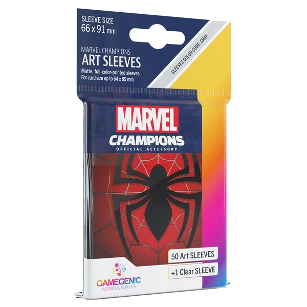 Gamegenic Marvel Champions Art Sleeves: Spider Man (50-Pack)
