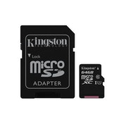 Kingston Canvas Select 64GB Micro SD UHS-I Flash Card with Adapter