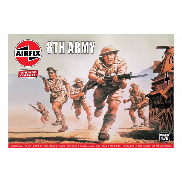 WWII British 8th Army 1:76 Air Fix Figures