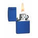 Zippo Logo Royal Blue Matte Lighter - Image 2
