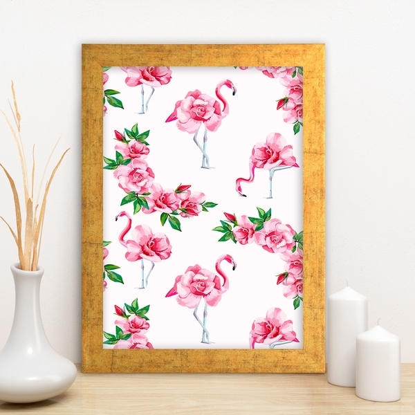 AC639780316 Multicolor Decorative Framed MDF Painting