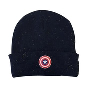 Marvel Captain America: Civil War Cap Shield Logo Patch Cuffed Beanie