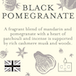 Black Pomegranate (Fragrant Orchard Collection) Gold Tin Country Candle - Image 3