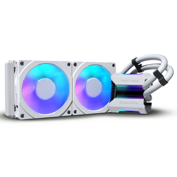 Phanteks Glacier One 240MPH All In One CPU Water Cooler HALOS D-RGB White - 240mm