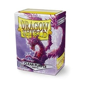 Dragon Shield Matte - Clear Purple 100 Sleeves In Box See Thru Limited Edition - 10 Packs