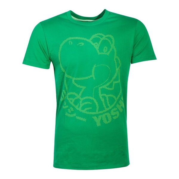 Nintendo - Yoshi Rubber Silhouette Print Men's X-Large T-Shirt - Green