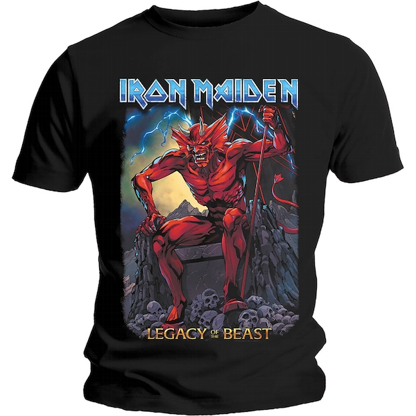 Iron Maiden - Legacy of the Beast 2 Devil Men's Large T-Shirt - Black