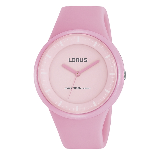 Lorus RRX25FX9 Light Pink Soft Silicone Strap Watch