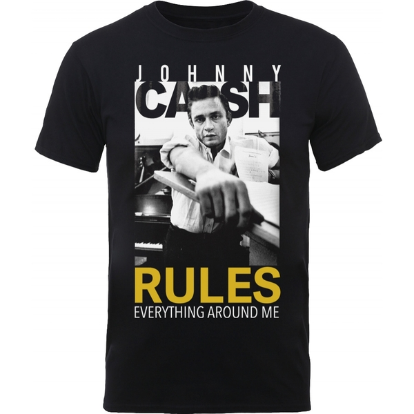 Johnny Cash Rules Everything Men's Large T-Shirt - Black
