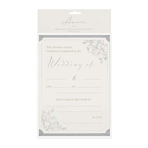 AMORE BY JULIANA? Wedding Day Invites - Pack of 20