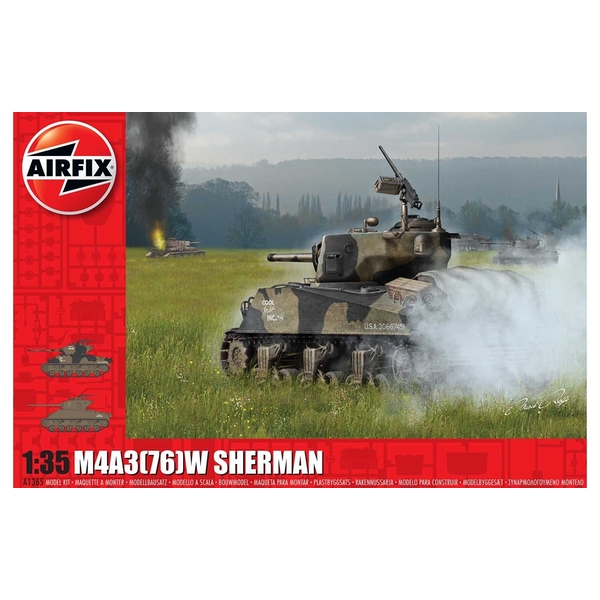 "M4A3(76)W ""Battle of the Bulge"" 1:35 Tank Air Fix Model Kit"