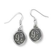 Sterling Silver Platform 9 3/4 Dangle Earrings