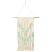 Aqua Wall Hanging with Tassels