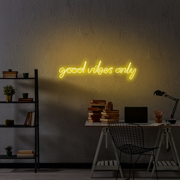 Good Vibes Only - Yellow Yellow Wall Lamp
