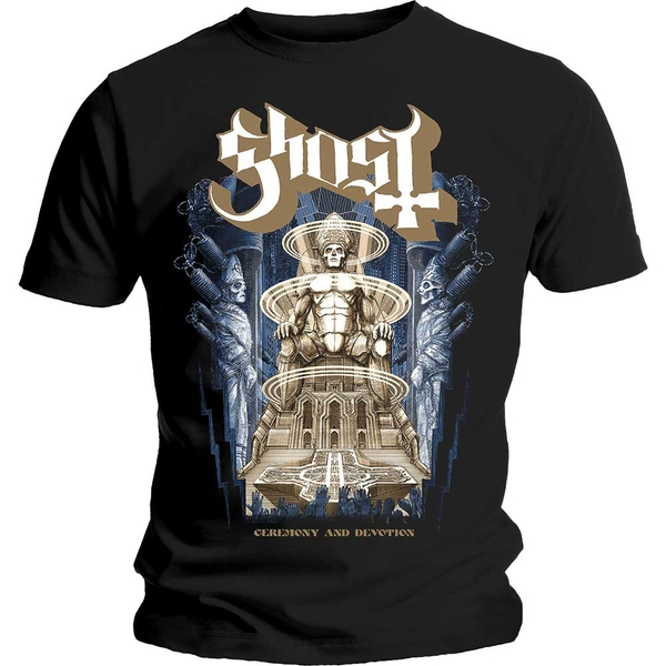 Ghost - Ceremony & Devotion Unisex Small T-Shirt - Black
