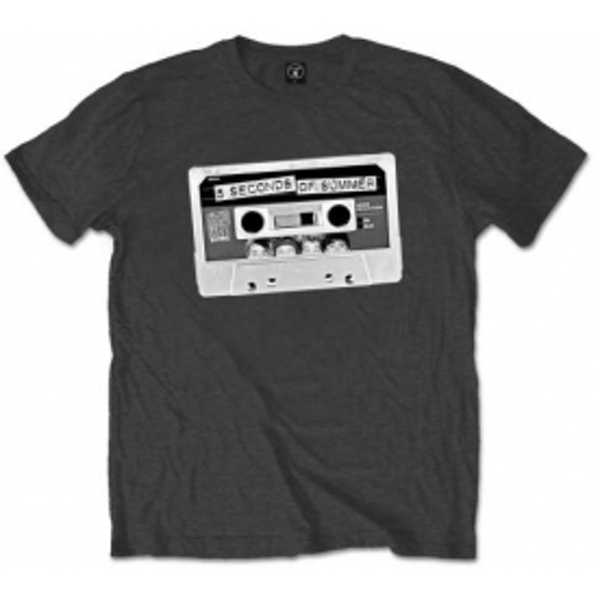 5 Seconds of Summer Tape Mens Charcoal T Shirt: X Large