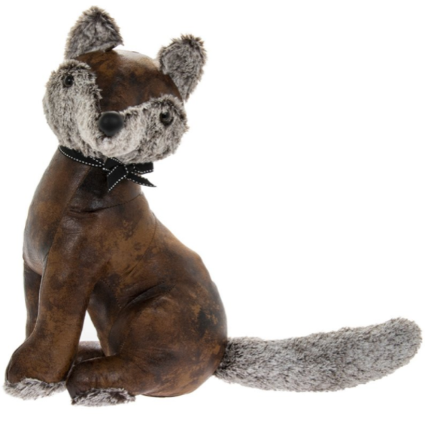 Faux Leather Fox Doorstop By Lesser & Pavey
