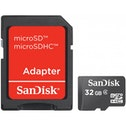 SanDisk 32GB MicroSD with microSD to SD