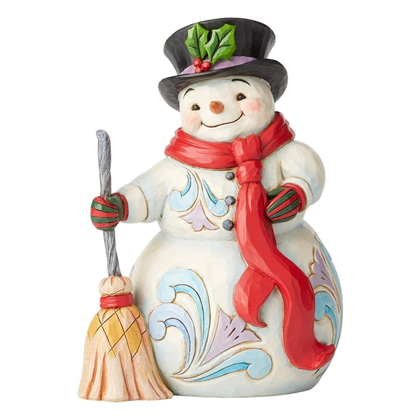 Swept Up In The Season Snowman Figurine