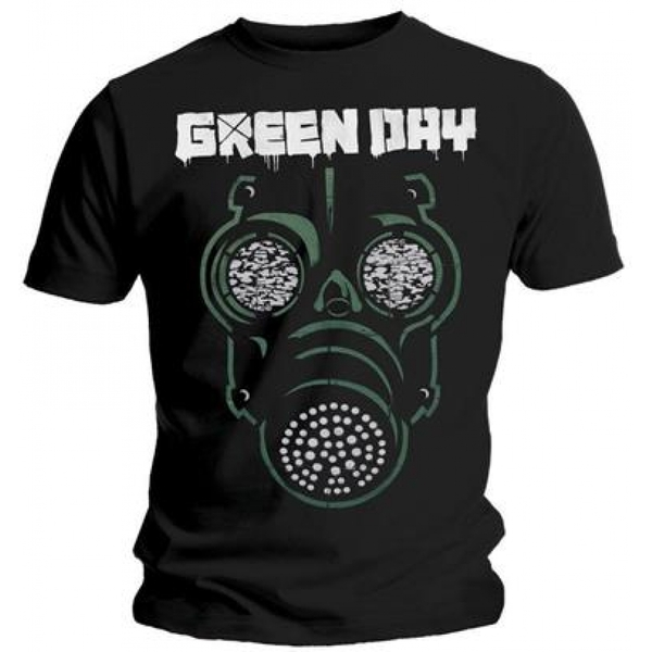 Green Day Green Mask Men's Small T-Shirt - Black