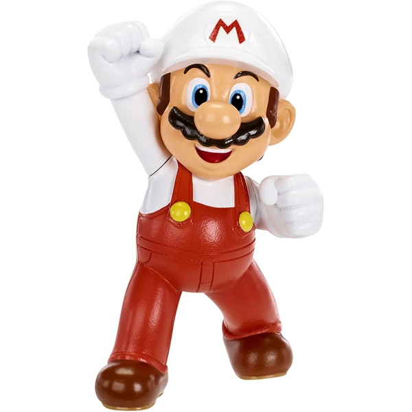 "Fire Mario (Super Mario) World Of Nintendo 2.5"" Action Figure"