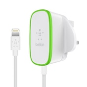 Belkin 12 Watt Wired Lightning Mains Charger - 6 Feet - White UK Plug