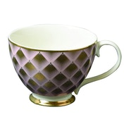 Footed Mug with Fan Design Gold
