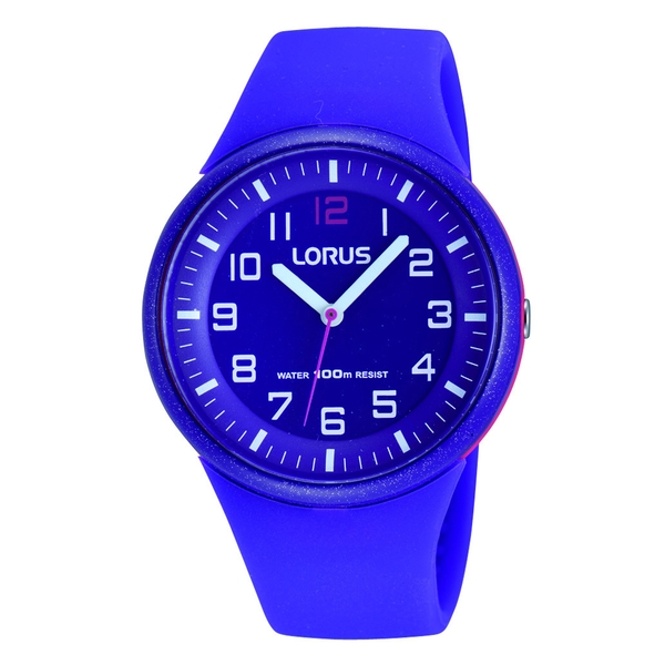 Lorus RRX57DX9 Youths Purple Sports Watch with Clear White Arabic Numerals