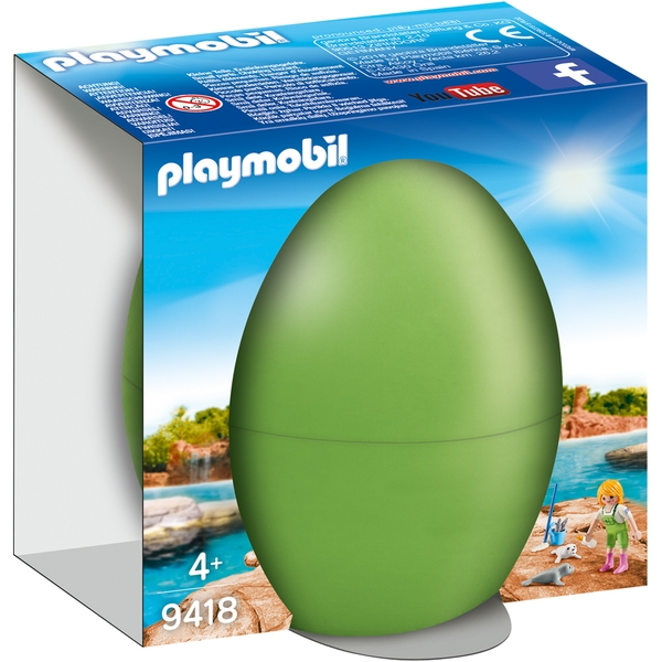 Playmobil Zookeeper with Seal Pups Gift Egg