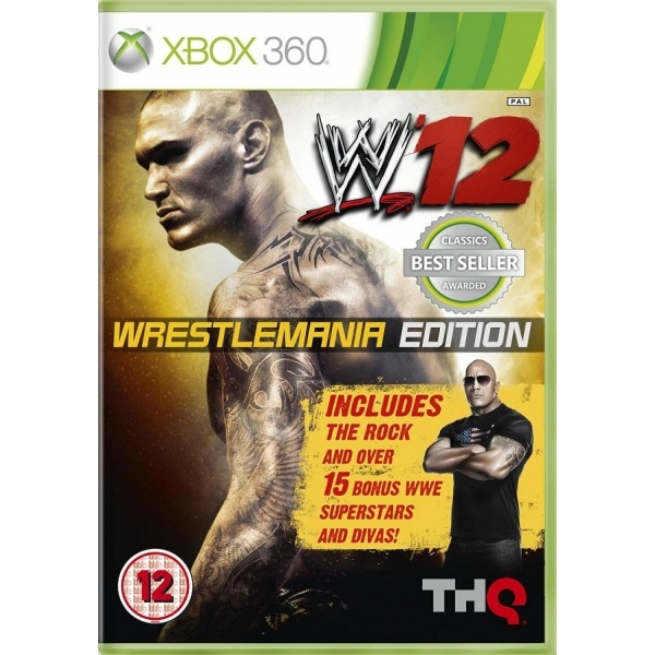 WWE 12 WrestleMania Edition Game (Classics) Xbox 360 - Image 1