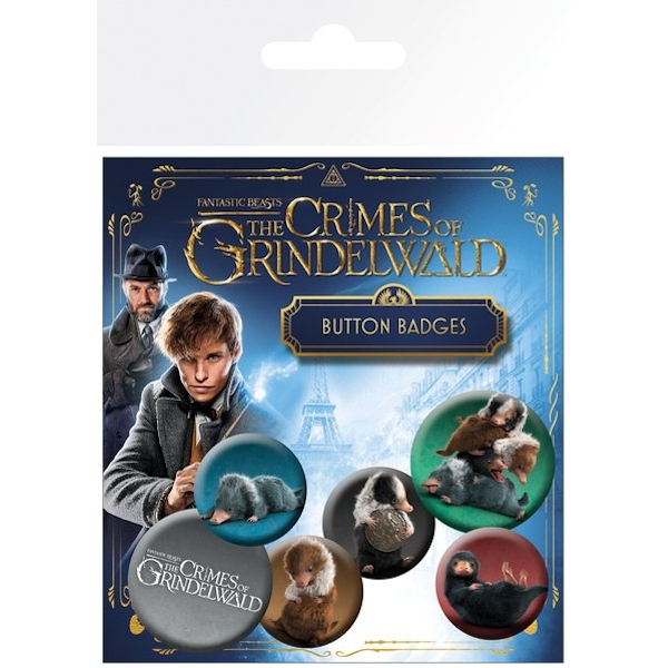 Fantastic Beasts 2 Nifflers Badge Pack