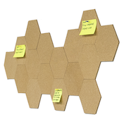 Hexagon Cork Board with Pins - Pack of 8 | Pukkr