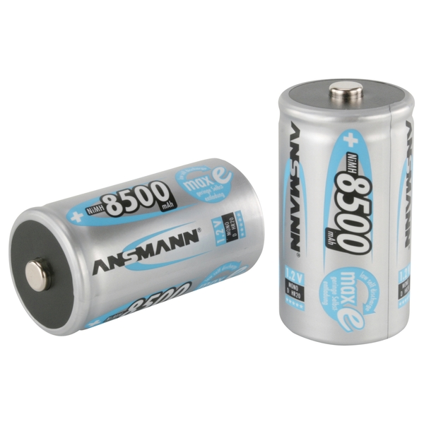 ANSMANN MaxE D Ni-MH Rechargeable Battery 8500mAh 1.2V Pack of 2